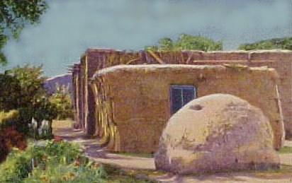 The tigua indians of texas for Adobe home builders texas